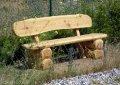 Gartenbank aus massivem Stammholz