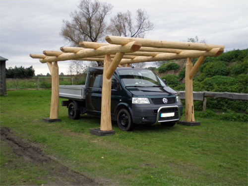 Carport aus Massivholz